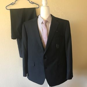 NEW Marks & Spencer Gray pinstripe Suit 46R 40/31